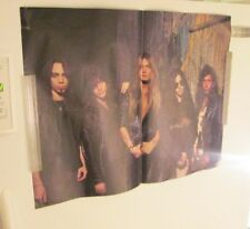SKID ROW POSTER ROCK  1990'S COLLECTABLE DISPLAY VINTAGE MAGAZINE PAGE SHEET