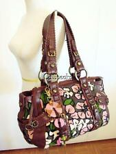 ISABELLA FIORE TESSA CUT A RUG LARGE TOTE BAG PINK BROWN