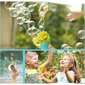 Automatic Bubble Machine Fan Gun Blower Maker Electric Kids Funny Toy Gift