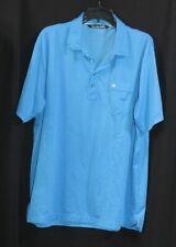 Travis Mathew Mens Short Sleeve Lightweight Polo Golf Shirt XXL Size BLUE