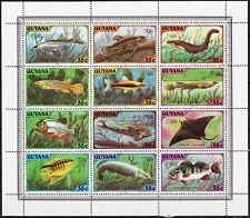 Guyana S/S London 1980 Fish 1980 MNH-9 Euro
