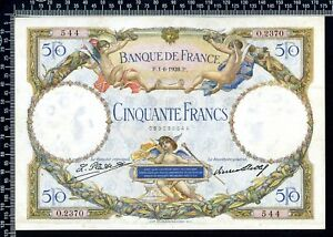 France / 50 francs 1928 / Luc Olivier Merson / Sup / N° O.2370-544