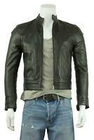 New Men Black Classic Jacket Real Leather Biker Style