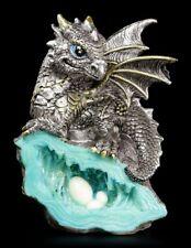 Drachen Figur - Blauer Wächter - Drachenfigur Dekofigur Fantasy Geschenk