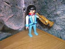 ( A 14 / 7 ) 3723 Jazz Musiker mit Trompete schwarze Haare Puppenhaus 1900