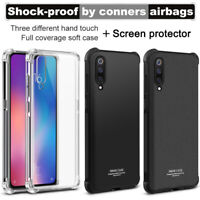 IMAK Airbag Corner Soft TPU Cover Case + Screen Film For Xiaomi Mi 9