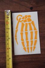 GRENADE Gloves STICKER Decal DIE CUT New Light Orange Bones
