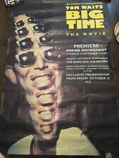 Tom Waits HUGE 3FT x 5FT UK London Underground Tube BIG TIME Poster SUPER RARE