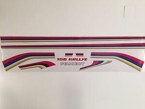 PEUGEOT 106 Rally decal sticker set reproduction S1 racing stripes printed kit 1