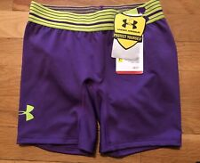 Under Armour Alpha Shorts 5in 1257692 Girls Crush Velocity Nwt Size M