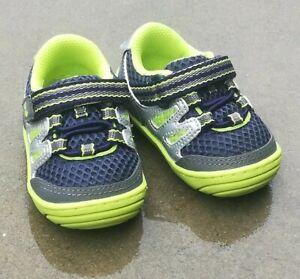 Surprize Stride Rite Toddler Boys' Aston Walking Sneakers Shoes Navy & Neon sz 2