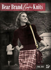 Bear Brand #335 c.1947 - Campus Knits Vintage Knitting Patterns for College Girl