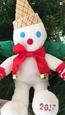 """Mr Bingle Snowman 2017 11"""" Plush Ornament  2017 NEW with Storybook Tags"""