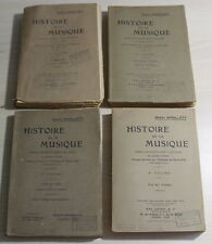 1925 - Histoire de la MUSIQUE de Henry Woollett - Complet en 4 Vol.
