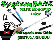 SELFIE MONOPOD Monopode + Câble Bras Télescopique Perche - IPHONE 5S 5C 5 6 6S
