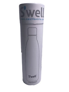S'well 17 Oz Santorini 3x Insulated Stainless Steel Water Bottle Blue White NEW