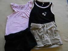 4 Piece lot of little girls tops shorts and skirt size 4 / 5 /7 / Xs