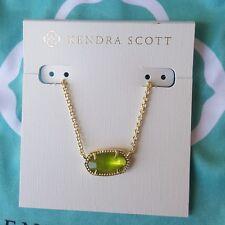 Kendra Scott Elisa Peridot Illusion Gold Birthday August Green Necklace Fashion