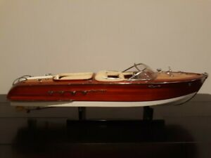 """Riva Aquarama Lamborghini 26"""" Wood Model Boat L67 cm Handmade Italian Speed Boat"""