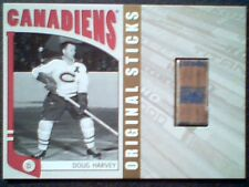 DOUG HARVEY  AUTHENTIC PIECE OF A VINTAGE GAME-USED HOCKEY STICK /20  SP