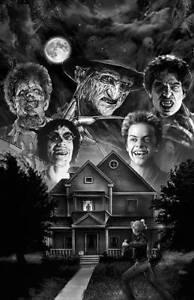 Freddy Krueger Leatherface Fright Night Buffy Art Print Poster by Scott Jackson