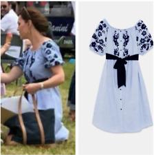 ZARA Off Shoulder Kleid dress mit Flockenprint Kate Middleton S new neu