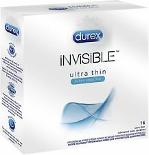 Durex Invisible Ultra Thin - Ultra Sensitive Premium Condoms 16 ea