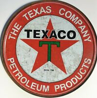 PLAQUE METAL vintage TEXACO Texas company - 30 cm import USA