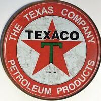 PLAQUE METAL vintage TEXACO Texas company - 30 cm HUILE GARAGE USA