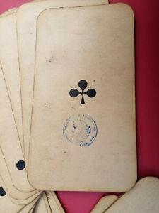 "ANCIEN JEU DE TAROT BOURGEOIS GRIMAUD dit ""TAROT NOUVEAU"" CARTES A JOUER 1890"