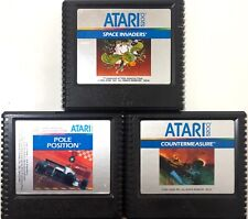 Atari 5200 3 Games Pole Position Countermeasure Space Invaders As Seen