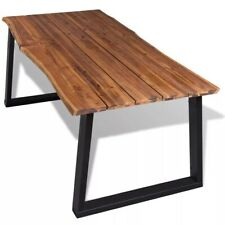 Solid Acacia Live Edge Dining Table