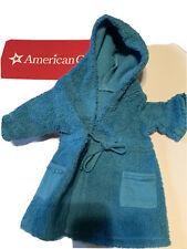 American Girl Spa Pajamas Blue Terrycloth HOODED ROBE