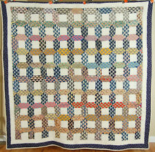Outstanding Vintage 20's Ocean Waves Antique Quilt ~Great Colors & Small Pieces!