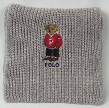 Polo Ralph Lauren Collectable Grey Preppy Teddy Bear Scarf NWT