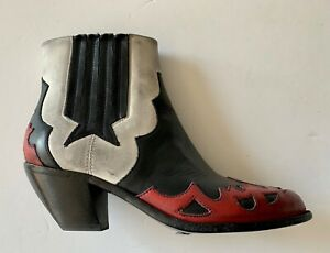 golden goose RED+BLACK DIRTY STYLE  Boots it35 usa 4.5 NEW women