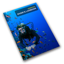 Scuba Diving Log Book Record - Essential Diver's Logbook. PADI BSAC SSI