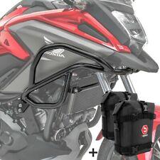 Set Verkleidungsschutzbügel + Taschen für Honda NC 750 X / 700 X 12-20 schwarz