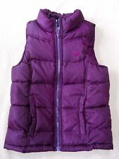Cute deep purple Old Navy Girls quilted zip front vest size Small / S