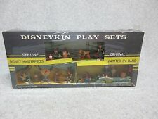 1960's 3 DISNEYKINS PLAY SETS in 1 BoX  MarX  15 Classic Characters & set pieces
