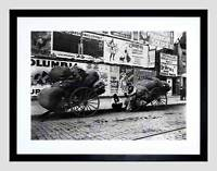RAG CARTS NY 1896 VINTAGE HISTORY OLD BW BLACK FRAMED ART PRINT PICTURE B12X677