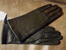 NWT New GRANDOE Sheepskin Leather Gloves Black 7 1/2 Medium