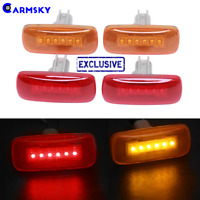 4*Amber/Red Housing 6LED Side Marker R&Y Light FOR 2010-2018 Dodge RAM 3500 2500