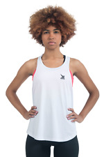 Veren Damen Tank Top Fitness, Laufen Dri - Fit Technologie Weiß Bekleidung Neu