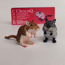 Choco Q Mini Figure Mouse Gerbillinae 2p Siamese & Red Kaiyodo Japan choco egg