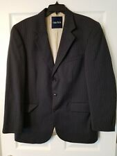 Nautica Charcoal Gray Pinstriped 44R 100% Wool 3 Button Sport Coat Blazer