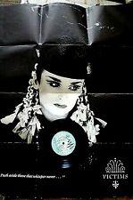 "CULTURE CLUB - VICTIMS 7"" VINYL SINGLE WITH POSTER POP 1980s EX/EX"