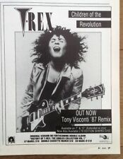T REX Bolan Children Of The Revolution 1987 UK mini Press ADVERT 5x3 inches