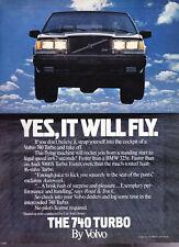 Vintage 1986 Volvo 740 Turbo Advertisement