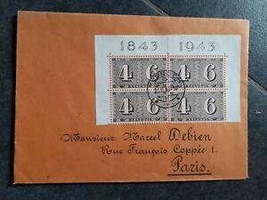 Enveloppe Timbrées 1943 .Suisse Voir Timbres et Cachet.